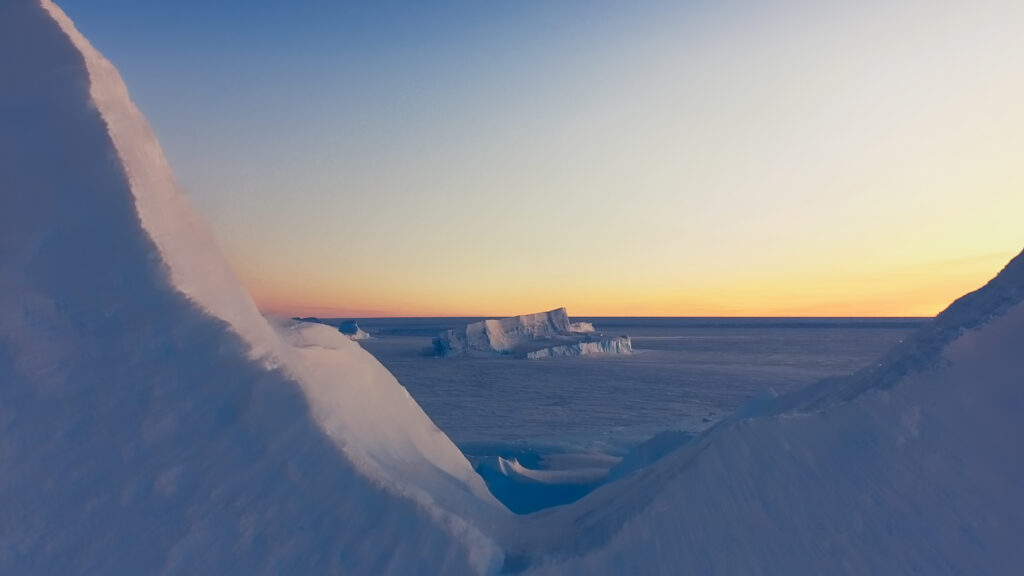 Picture Shows: Screen grab.  Antarctica was first sighted by humans just 200 years ago.